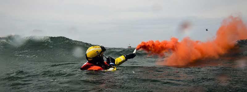 การฝึกหน่วยกู้ภัยทางน้ำ