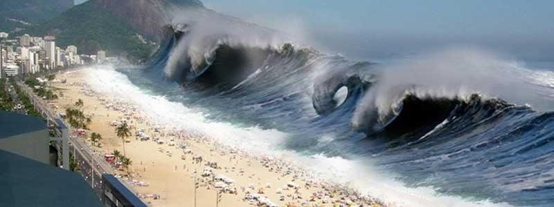 การเกิดสึนามิทำลายทะเลเสียหายแค่ไหน